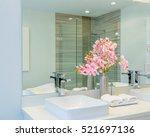 fragment of a luxury bathroom | Shutterstock . vector #521697136