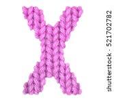letter x alphabet on a blurry... | Shutterstock . vector #521702782