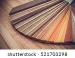 small color sample boards.... | Shutterstock . vector #521703298