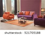 modern sofa in luxury living... | Shutterstock . vector #521705188