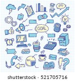 business themed doodle on paper ... | Shutterstock .eps vector #521705716
