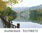 Small photo of a beautiful lake in the autumn, Mountain Lushan, China