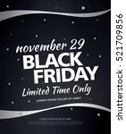 black friday sale banner | Shutterstock .eps vector #521709856