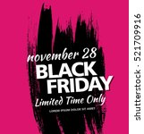 black friday sale banner | Shutterstock .eps vector #521709916