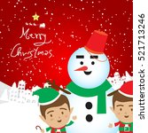 christmas concept elf and...   Shutterstock .eps vector #521713246
