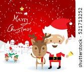 christmas concept santa claus... | Shutterstock .eps vector #521713252
