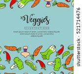 vegetables banner background | Shutterstock .eps vector #521714476