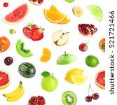 fruits seamless pattern.... | Shutterstock . vector #521721466