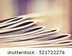 close up edge of colorful... | Shutterstock . vector #521722276