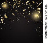 gold confetti celebration... | Shutterstock .eps vector #521724136