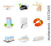 travel icon set   Shutterstock .eps vector #52172635
