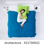 young woman sleeping in her... | Shutterstock . vector #521730022