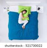 young woman sleeping in her... | Shutterstock . vector #521730022