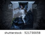 Nervous Woman In Bed Have A...