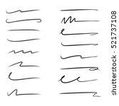 set of hand drawn grunge brush  ... | Shutterstock .eps vector #521737108