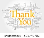 thank you word cloud background ... | Shutterstock .eps vector #521740702