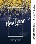 new year poster with gold... | Shutterstock .eps vector #521741662