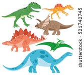 cute dinosaurs set. | Shutterstock .eps vector #521742745