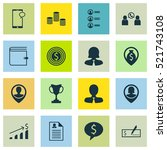 set of 16 management icons. can ... | Shutterstock .eps vector #521743108