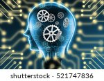 industry 4.0   machine learning ... | Shutterstock . vector #521747836