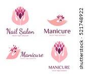 vector set of logos for... | Shutterstock .eps vector #521748922