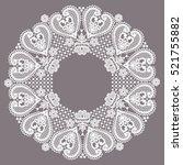 lace frame | Shutterstock .eps vector #521755882