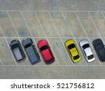empty parking lots  aerial view. | Shutterstock . vector #521756812