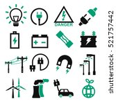 electric icon set | Shutterstock .eps vector #521757442