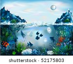 the underwater world of fish... | Shutterstock .eps vector #52175803