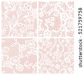 lace seamless patterns with... | Shutterstock .eps vector #521759758