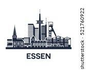 abstract skyline of city essen... | Shutterstock . vector #521760922