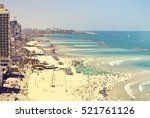 beaches of tel aviv. old quay... | Shutterstock . vector #521761126