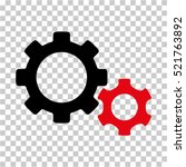 gears icon. vector pictograph... | Shutterstock .eps vector #521763892