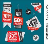 black friday sales tag  | Shutterstock .eps vector #521770192