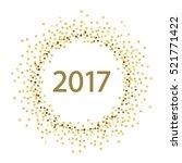 golden splash or glittering... | Shutterstock .eps vector #521771422