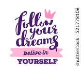 vector motivational handwritten ... | Shutterstock .eps vector #521778106