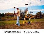 gps survey   land surveyor in... | Shutterstock . vector #521779252