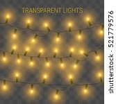 glowing lights for holidays.... | Shutterstock .eps vector #521779576