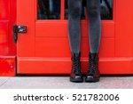black women's leather boots | Shutterstock . vector #521782006