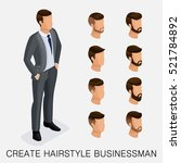 trendy isometric set 6 ... | Shutterstock .eps vector #521784892