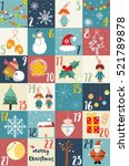 advent calendar.christmas...   Shutterstock .eps vector #521789878