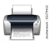 printer | Shutterstock .eps vector #52179412