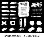 painted grunge stripes set.... | Shutterstock .eps vector #521801512