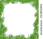 natural christmas square frame... | Shutterstock .eps vector #521801842