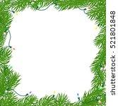 natural christmas square frame... | Shutterstock .eps vector #521801848
