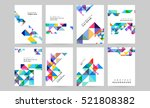 geometric background template... | Shutterstock .eps vector #521808382