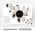 Geometric background Template for covers, flyers, banners, posters and placards, may be used for presentations and books, EPS10 vector illustration | Shutterstock vector #521808586