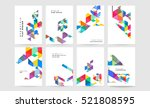 geometric background template... | Shutterstock .eps vector #521808595