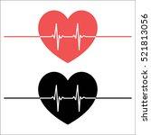 heartbeat line heart pulse | Shutterstock .eps vector #521813056