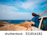 young woman on vacation travel...   Shutterstock . vector #521816182
